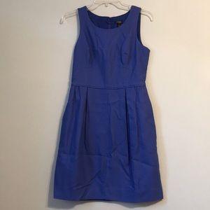J. Crew Blue Cotton Dress Exposed Zipper